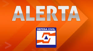 Alerta da Defesa Civil neste final de semana
